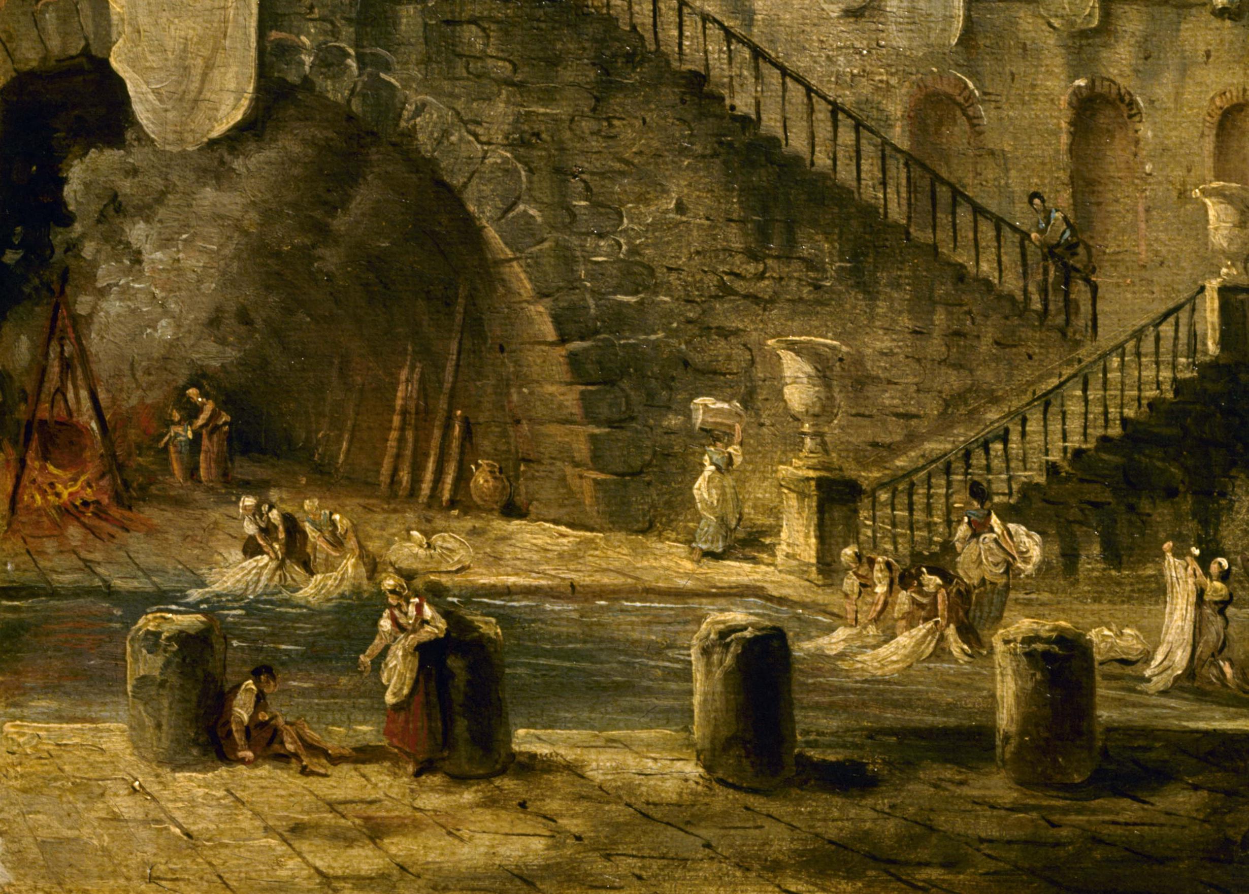 """""""Les LavandiËres"""" par Hubert Robert (1733-1808). MusÈe d'OrlÈans."""
